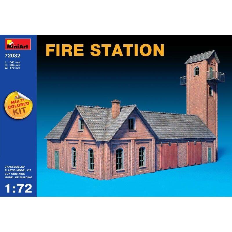 PLASTIC MODEL FIRE STATION 1 72 MINIART 72032