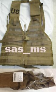 United States Marine Corps Mou II MARPAT FLC combat Load Carrier Gilet Coyote Marron Fermeture éclair Neuf Sous Emballage