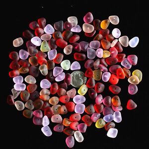 sea beach glass 20 big pieces purple lots bulk jewelry use