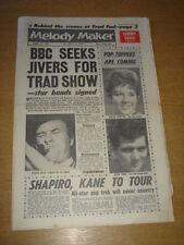 MELODY MAKER 1961 AUGUST 12 ACKER BILK HELEN SHAPIRO EDEN KANE SAMMY DAVIS +