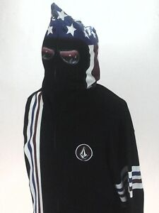 Details about VOLCOM Stone Hoodie Jacket Zip Up Racing Black USA INYOFACE Men's XXL New RARE