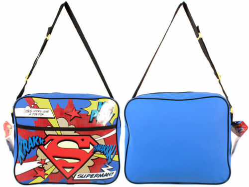 OFFICIAL DC COMICS SUPERMAN RETRO MESSENGER  BAG ADJUSTABLE STRAPS RRP £25