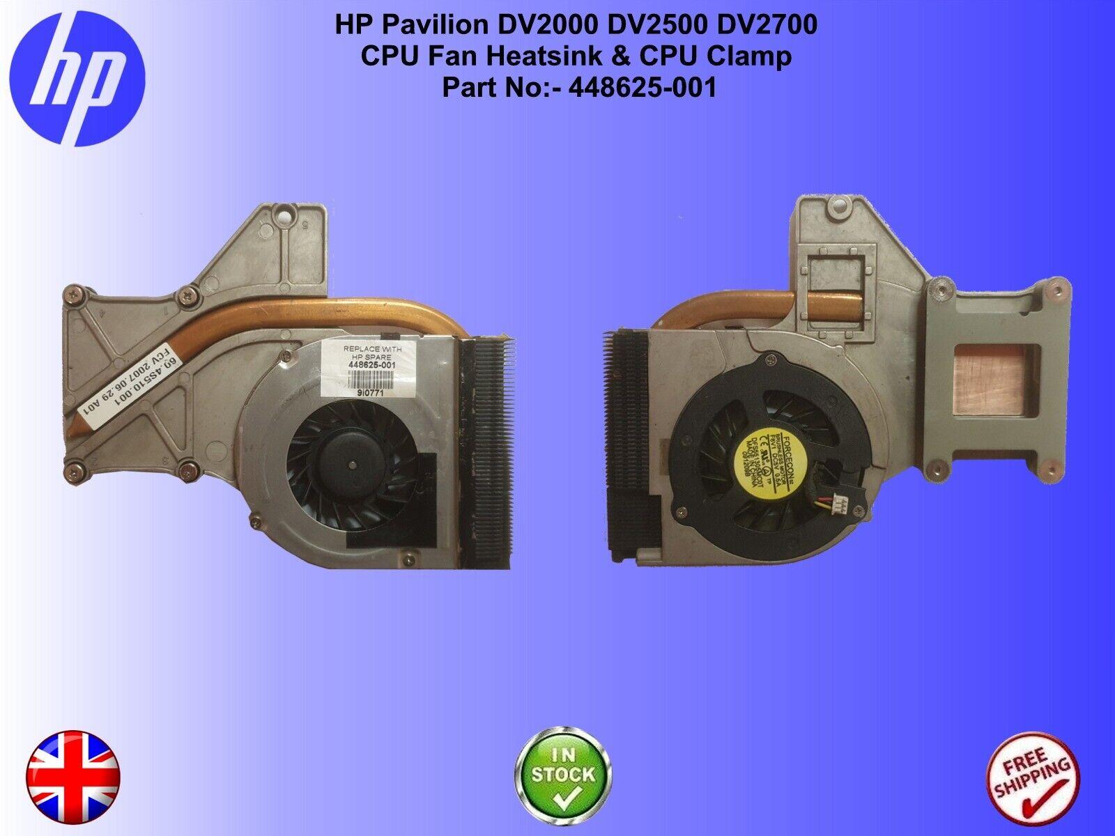 ⭐HP Pavilion DV2000 DV2500 DV2700 ⭐ CPU Fan & Heatsink Part No:- 448625-001
