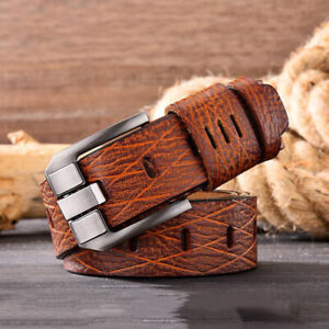 Men-039-s-Belt-Genuine-Leather-Belt-for-men-Pin-Buckle-Jeans-Casual-Belt-Cowboy