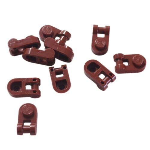 10 NEW LEGO Plate Modified 1 x 1 Rounded with Handle Reddish Brown