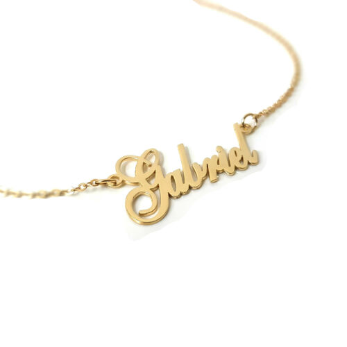 Personalized Name Necklace 18k Gold Or Sterling Silver Custom Made Any Name