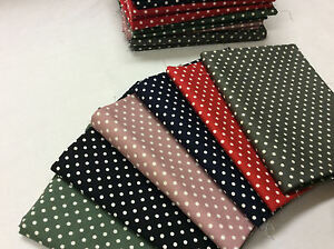 Cotton Fabric Fat Quarters Bundle x 6 colours
