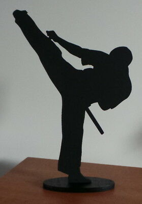 Karate Martial Arts Kung Fu Figure ~ approx 25cm tall Silhouette Art