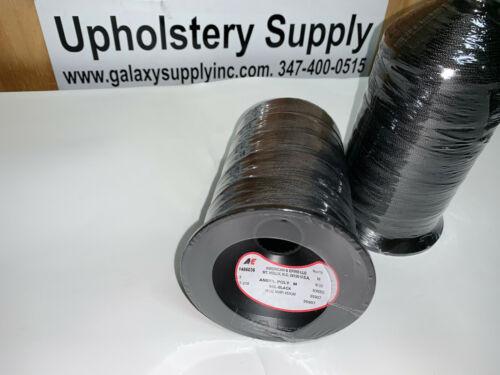 A /& E TEX 210 bonded Poly Thread Heavy Duty Thread ! Black 16oz