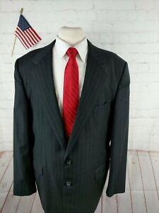 Clipper Shop Men's Gray Stripe Two Button Suit 42R Pants 38X28 $349