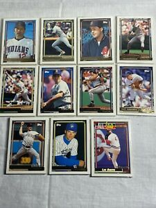 Lot of 11 1992 Topps Gold Winner Pack Factory Sealed Lee Smith Lot #6
