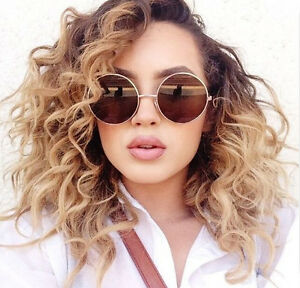 Oversized-Round-Sunglasses-Circle-Gold-Brown-Designer-Vintage-Fashion
