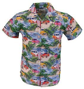 Relco-Classico-V-Dub-Vintage-Retro-Stampa-Bowling-Camicia