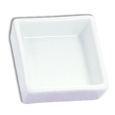 """2 PCS. Japanese 2.5"""" Square Plain White Sushi Soy Sauce Dipping Plate Dishes"""