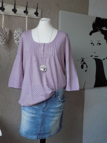 Sheego 3//4 Arm Shirt nude rose Punkte Gr 44 Donts Tunika lockere Form 49c
