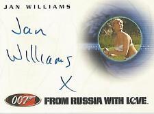 """James Bond Quotable - A40 Jan Williams """"Masseuse"""" Autograph Card"""
