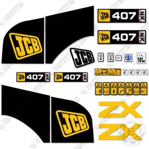 Jcb-407ZX-Adhesivo-Kit-Rueda-Cargador-Recambio-Pegatinas-Pesado-Equipamiento