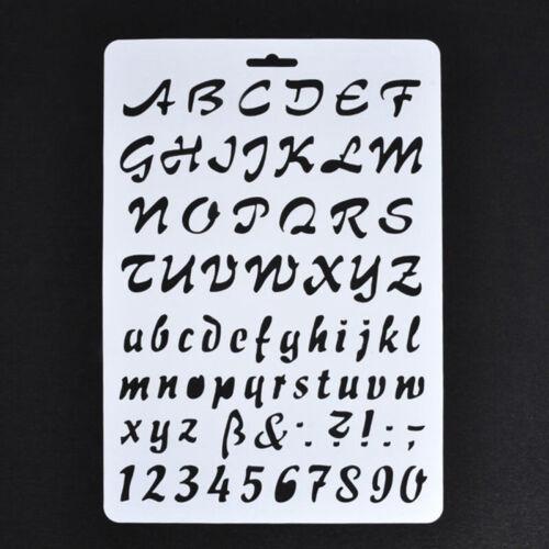 letra y número de plantilla Plantillas De Letras Pintura Arte de Papel 7R5 del alfabeto