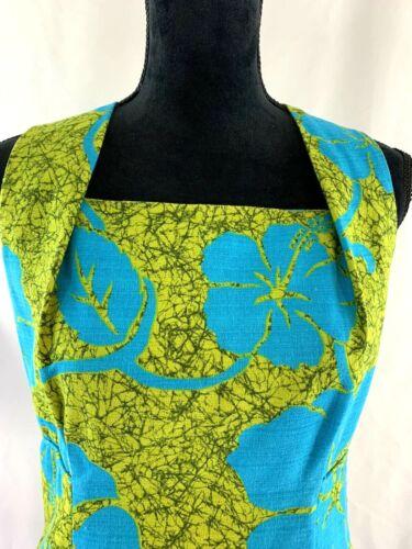 Vintage Green Boho Polynesian Print Maxi Dress Dar