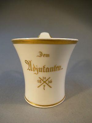 Zielstrebig Biedermeier Porzellan Tasse Militaria Andenkentasse Kpm Dem Adjutanten 1836 Verkaufspreis