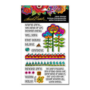 LAUREL BURCH Borders CLEAR Unmounted Rubber Stamp Set STAMPENDOUS SSCL102 New