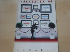 52135) Renault R19 16V Phase II Clio A 16V Twingo Ungarn Prospekt 1994