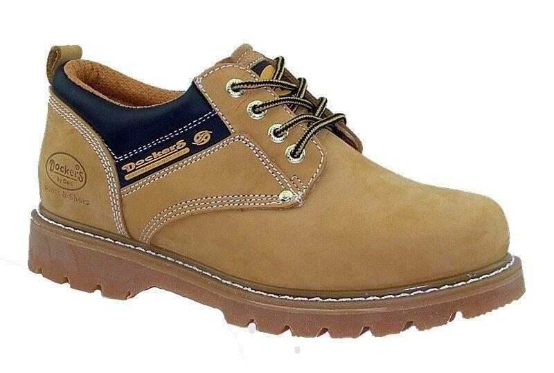 DOCKERS Zapatos Hombre Botas Zapatos Cuero Zapatos de cordones amarillo NUEVO