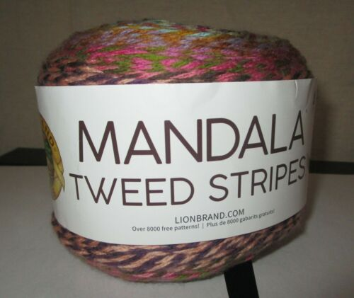 LION BRAND~White Elephant MANDALA TWEED STRIPES 4 Medium Yarn