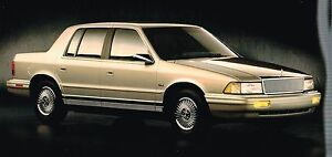 Image Is Loading 1993 Chrysler Lebaron Sedan Brochure With Color Chart