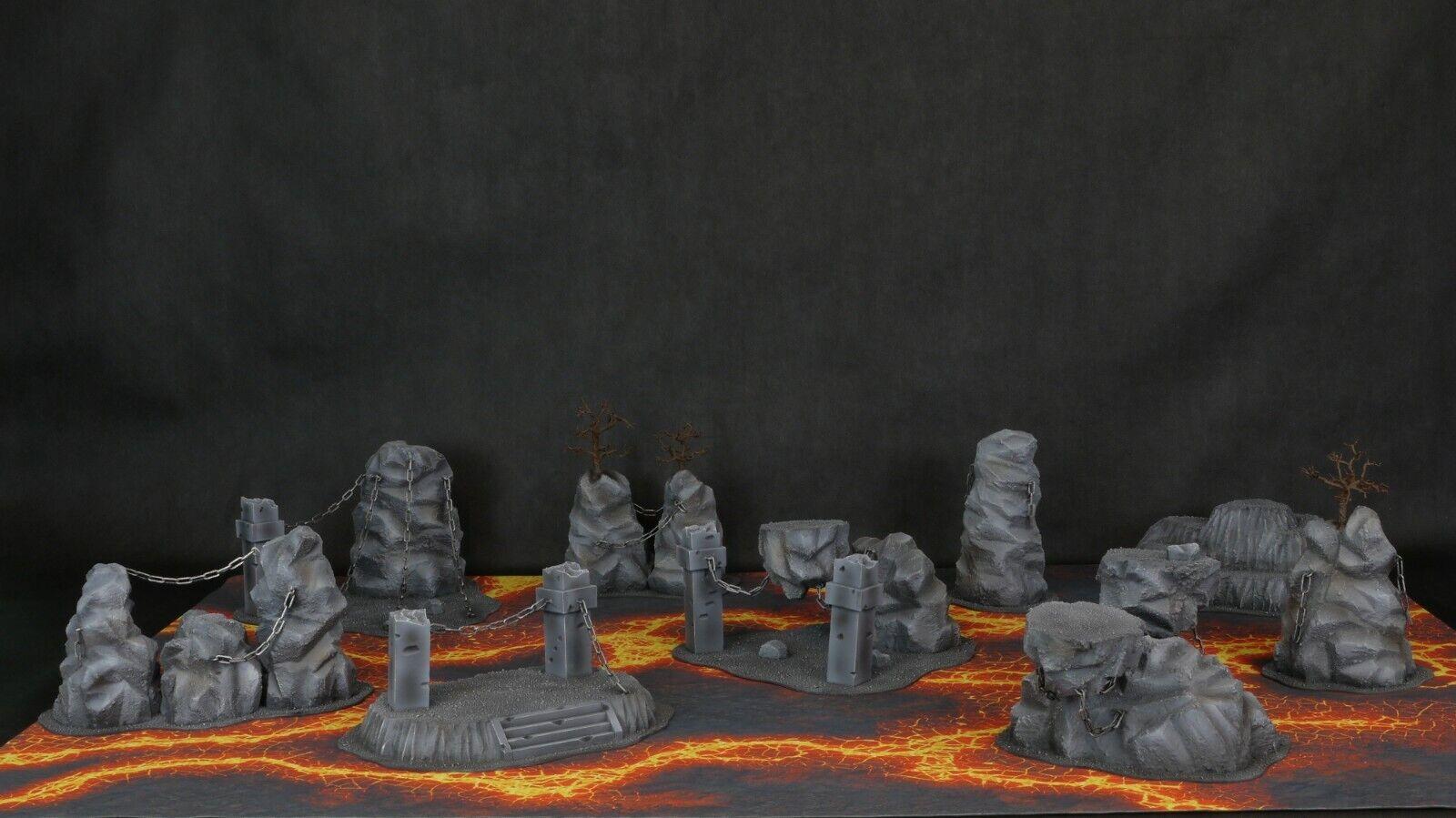 Hell Terrain Set (photos dans  description)  dans les promotions de stade