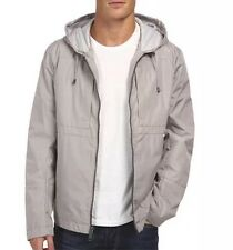 Andrew Marc 2532 Men's Grey Hooded City Rain Tech Jacket Size M NEW!
