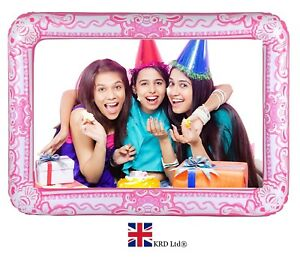 Pink Giant Inflatable Photo Frame Selfie Booth Props Blow Up Hen