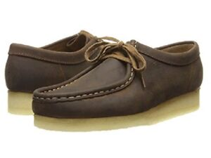 74f6b684a34860 New Clarks of England Wallabee Shoe Brown Leather Men s Shoes 37982 ...