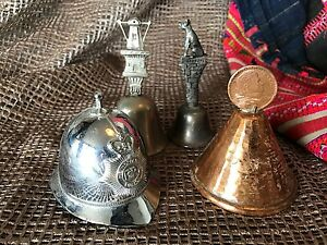 Vintage Miniature Bell Collection of Four …great for the collector