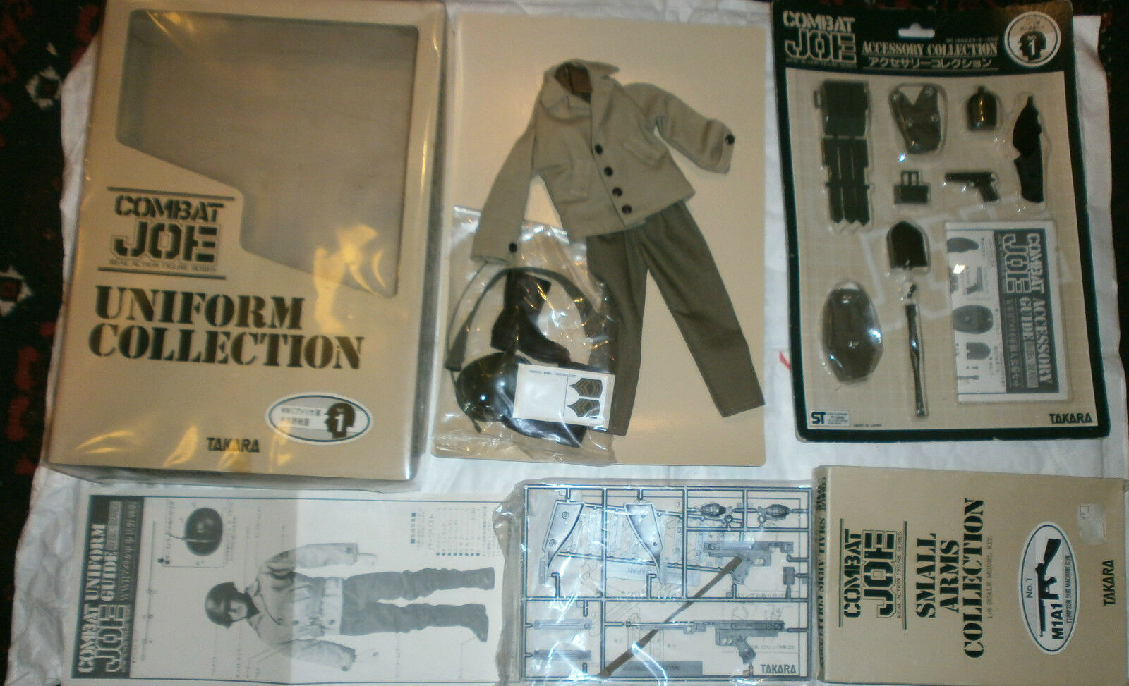 Takara Combat joe US carded outfit , accessory cards   set 1 6th scale toy