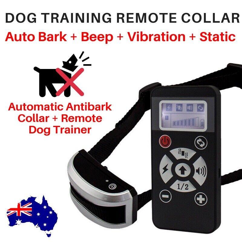 REMOTE DOG AUSBILDUNG COLLAR 730m AUTO ANTIBARK STATIC VIBRATE SOND einstellbar