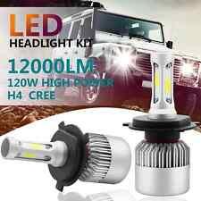 2x H4 120W 12000LM CREE Car COB LED Headlight Kit Hi/LI Bulbs 6500K High Power