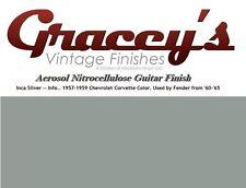 -Inca Silver- Gracey's Vintage Finishes Nitrocellulose Guitar Lacquer Aerosol.