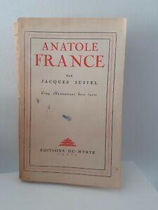 Anatole-Francia-Jacques-Suffel-Ed-de-La-Mirto-5-Impresion-H-T-Frontispicio-Pin
