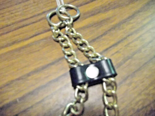 New Show Chain Stud Brass//Gold Arabian Style Leads Rings On Ends Horse Tack