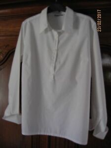 CHEMISE-CHEMISIERS-BLANC-TOP-TUNIC-FEMME-LADIES-SHIRT-BLOUSE-WHITE