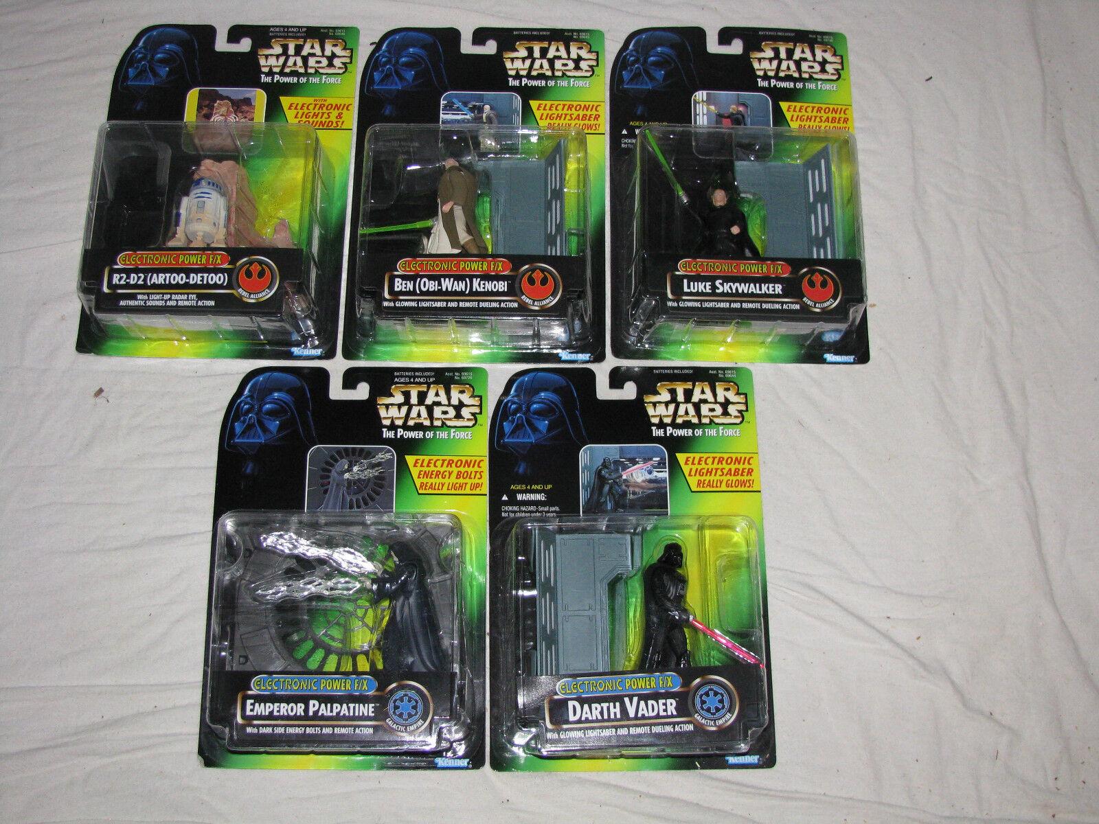 Star - wars - elektronik macht f   x - obi - wan kenobi, darth vader, r2 - d2, palpatine, luke.