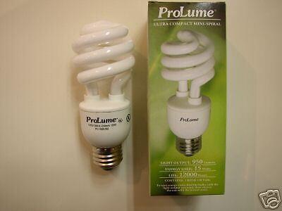 10-Halco ProLume FULL SPECTRUM 15W Long Life 5000K Compact Fluorescent Bulbs