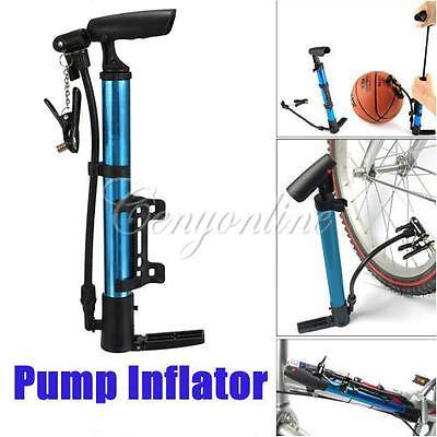 Portable Aluminum Bike Bicycle Ball Tire Hand Air Pump High Pressure Inflator