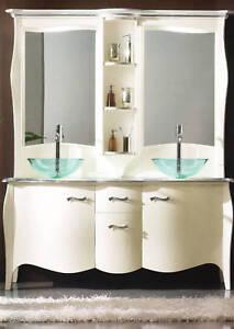 MOBILE BAGNO IN LEGNO LACCATO BIANCO - LUXURY BATHROOM