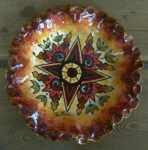 100% Vrai Ancienne CÉramique De Paul Fouillen DÉcor Breton StylisÉ Celtique D2473