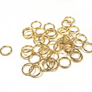200 Anneaux de Jonction 8mm Simples ou Doubles Argenté Bronze Gunmetal ou Doré