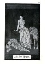 Mrs.Roger Pilkington Porträtiert von John A.Wells  c.1930