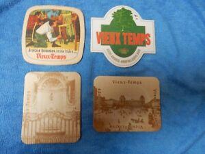 4 oude  bierviltjes  VIEUX-TEMPS                                  /