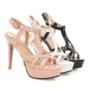 Women Slingbacks Sandals Ankle Straps Stiletto High Heels Sandals Open Toe Shoes